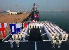 中俄海军共同庆祝中国海军节