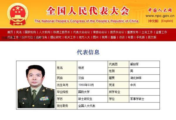 原北京军区副参谋长杨波任中部战区陆军副司令员