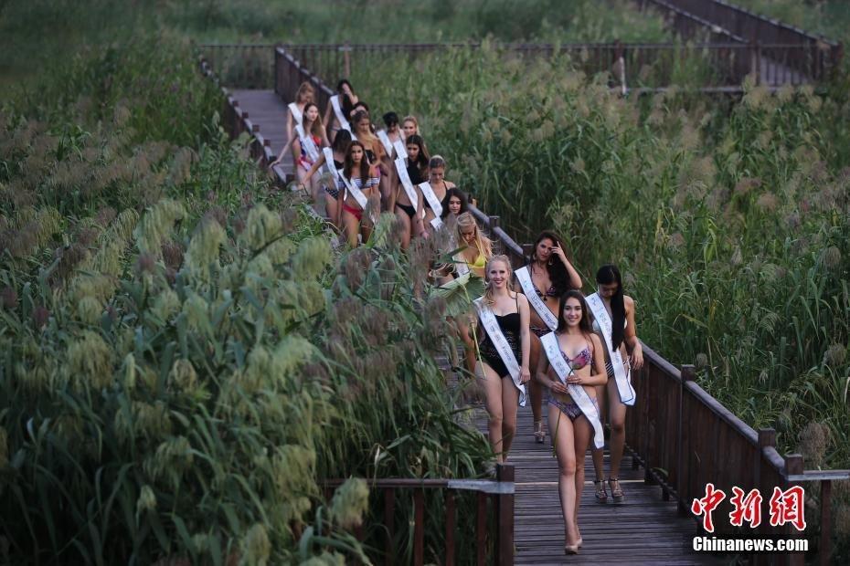 全球生态旅游大使走进生态湿地 秀性感身姿 - 海阔山遥 - .