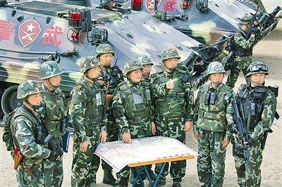 武警西藏维稳部队举行誓师动员大会图片