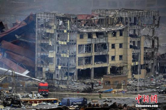 天津港爆炸致112人死95人失联 其中85人为消防