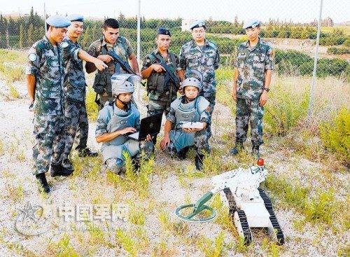 中国赴黎维和部队扫雷速度是国际平均水平7倍