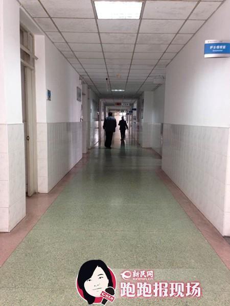 图说:事发楼面已恢复平静。新民晚报新民网记者 胡彦珣 摄