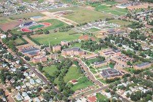 狄克森州立大学俯拍图。