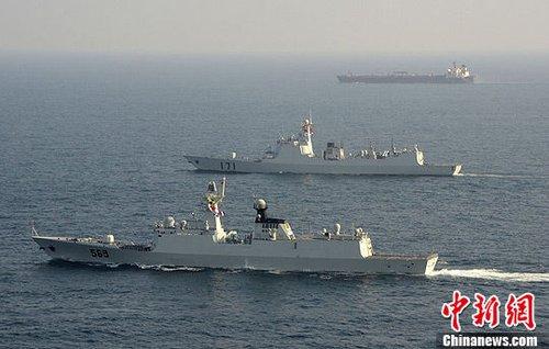 中国海军护航满三周年 累计派出25艘次军舰