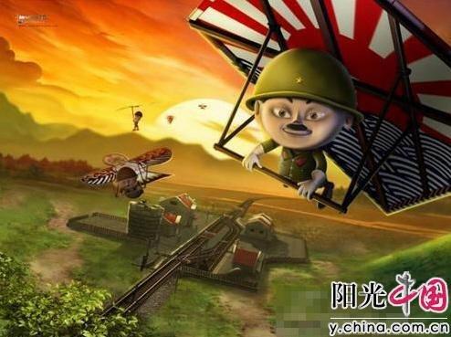 """群众演员扮日本兵一天""""死""""八次 想演八路军"""