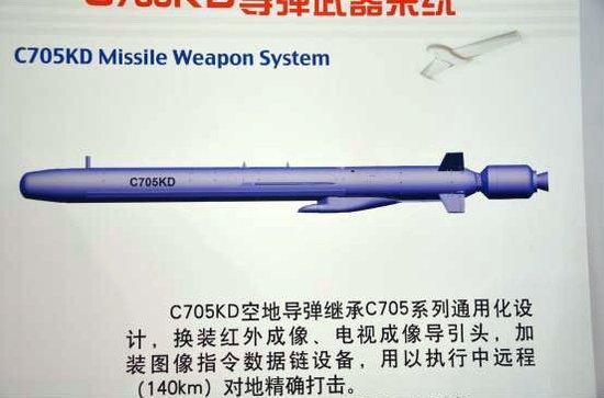 C705KD空对地导弹:重量轻巧威力射程不减