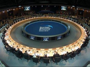 高清:首尔核安全峰会第一次全体会议召开