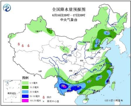 云南广西等地雨水较强 华北东北多雷阵雨