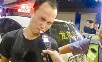 醉驾司机面对交警狂秀演技,花式吹气近20次 你不去演戏可惜了!