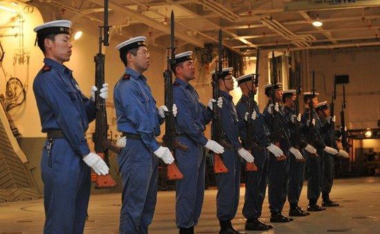 资料图:日本海上自卫队现时与中国关系紧张的情况下