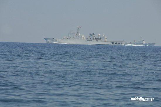 菲称中国渔政310船和海监71船未有远离黄岩岛
