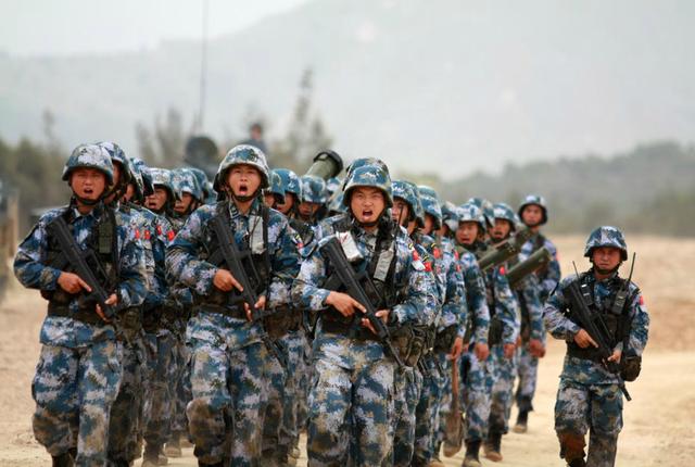 中国计划将海军陆战队扩员4倍?国防部这样回应