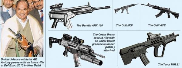"""印军开始新步枪国际招标 国产""""EX咖喱棒""""步枪可能搁浅"""