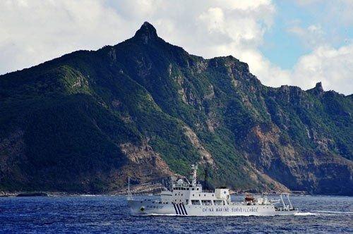 中国海监不理安倍警告继续在钓鱼岛领海内巡航
