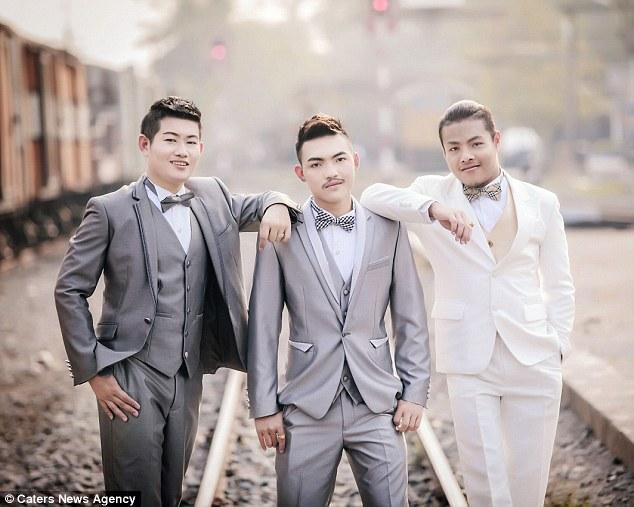 泰国男同性恋举行三人婚礼 或系世界首例(图)