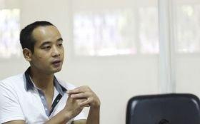 7月24日,体验者涂建讲述他的工地生活。图/记者华剑