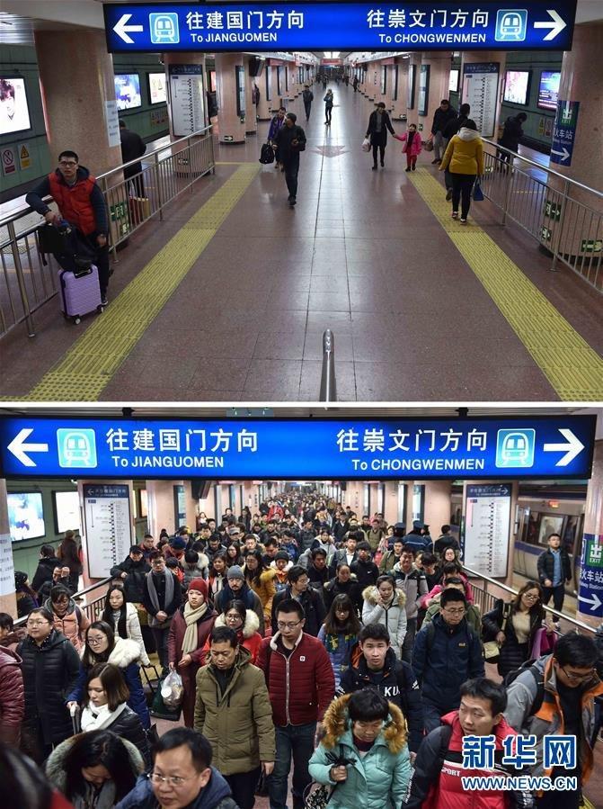 春节期间,与往年类似,由于大量外来人口返乡过年,北京部分街