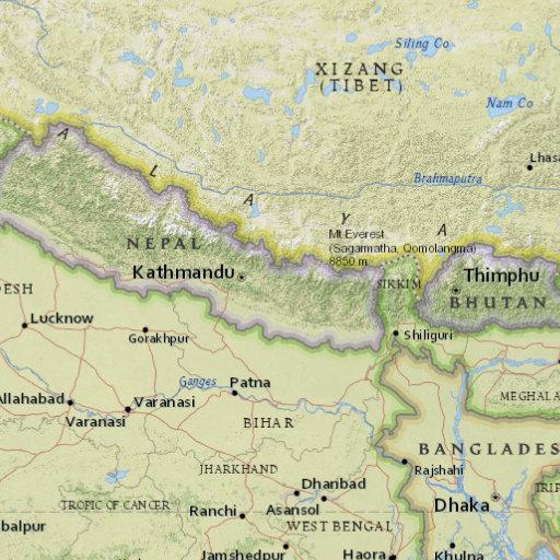 尼泊尔东部发生5.7级地震 震源深度10公里