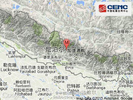 尼泊尔发生8.1级地震 加德满都多处房屋倒塌