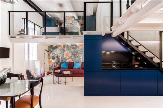 意大利式loft公寓 夸张色彩营造个性空间