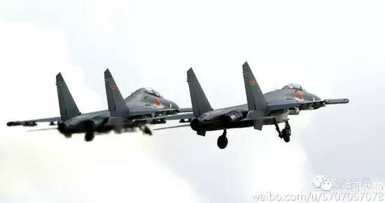 中国空军赴南海战巡 几乎囊括空军所有主力机种