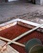 """一批散装""""染色豆瓣""""堆放在工厂内"""