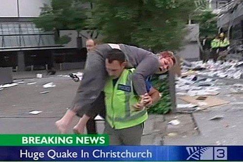 新西兰强震损失惨重 市长称许多大楼倒塌(图)