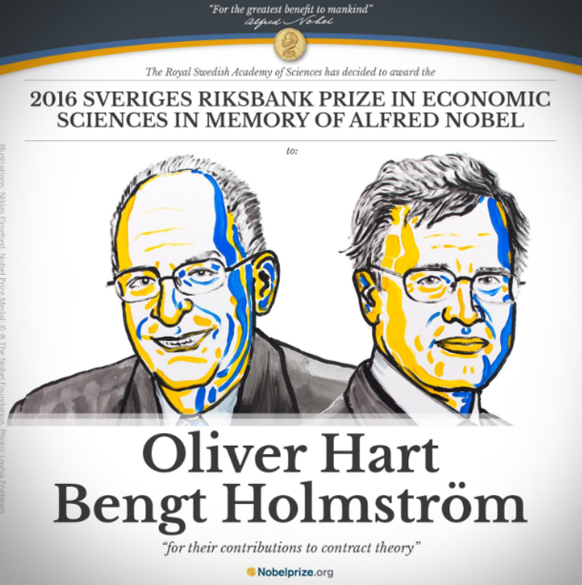 两名在美教授分获诺贝尔经济学奖 研究契约理论