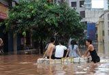 渠城南门人民市场全部被淹