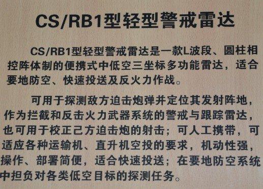 CS/RB1雷达公开意味中国共形相控阵技术成熟
