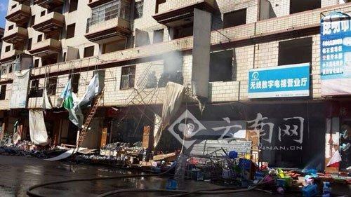 昆明一处待拆迁商铺发生爆炸 一人双腿被炸飞