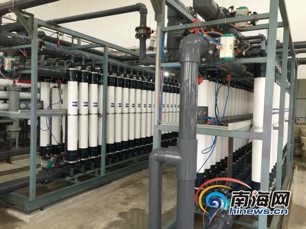 三沙永兴千吨海水淡化厂启用 700吨达直饮水标准