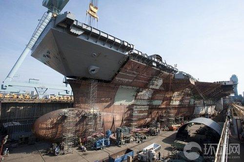 美最新航母接近完工 战力高出尼米兹一个量级