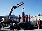 救生舱运抵智利塌方矿场