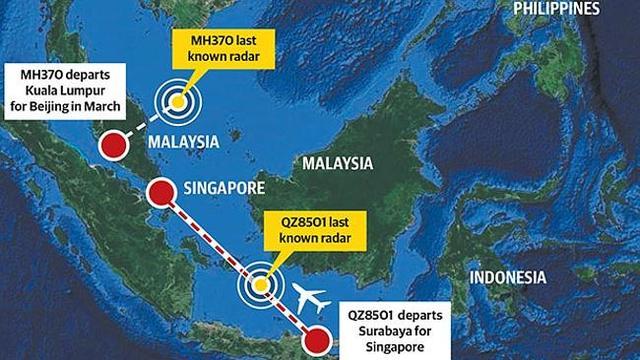 亚航QZ8501与马航MH370失联的异同_新闻_腾