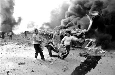 叙首都遭遇爆炸已致55死372伤 遍地是残肢鲜血