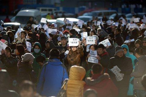 京沈高铁拟穿越北京居民区引沿线市民抗议(图)