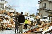 被地震毁坏的房屋