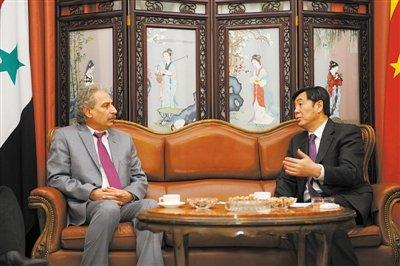 中国特使抵达叙利亚展开斡旋 敦促停止所有暴力