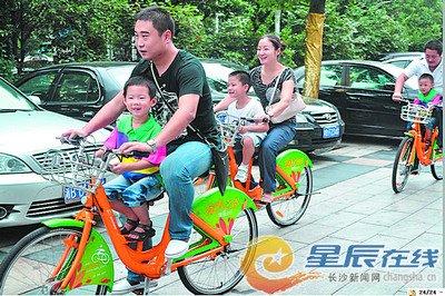 株洲公共自行车模式将在图片