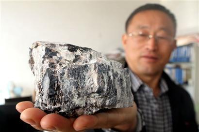胶州村民池塘挖出怪石 初步鉴定为亿年木化石