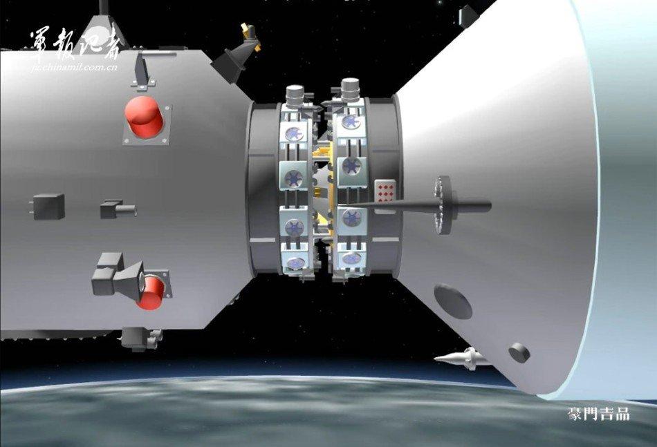 天宫一号与神舟八号太空对接全程3D图