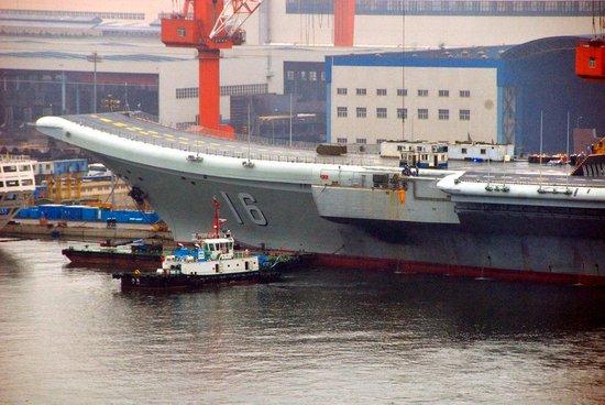 """媒体猜测中国航母即将服役 或被命名""""湖北""""号"""