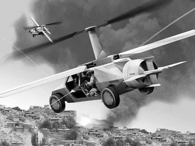 美国军方计划投巨资打造可飞行军用悍马车(图)