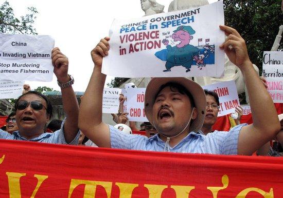 越南首连续8周出现反华示威 部分抗议者遭逮捕