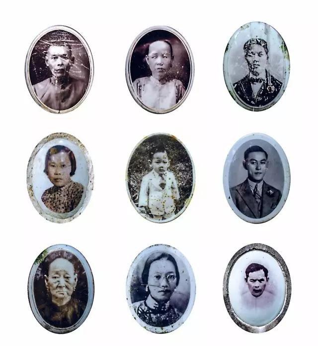 咖啡山墓碑上找到的照片。