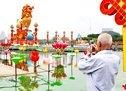 武汉月湖公园布展纪念辛亥百年大型灯会