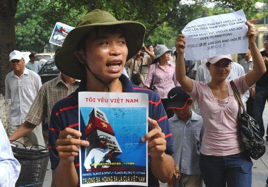越南再次爆发示威 抗议中国对南海主权要求