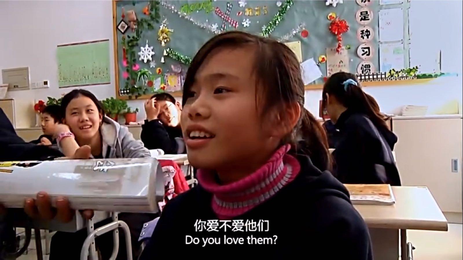 欣媛在课堂上